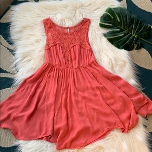 Free People Crocheted Bodice Fit & Flare